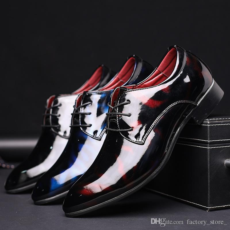 designer lackleder männer oxford schuhe italienische marke männer büro schuhe herrenschuhe formale sapato masculino soziale zapatos de hombre ayakkab