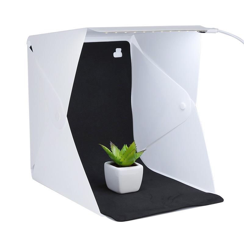 المهنية البسيطة استوديو الصور مربع التصوير الإضاءة خلفية مدمجة ضوء صورة ضوء الغرفة مكعب مربع الكاميرا الملحقات