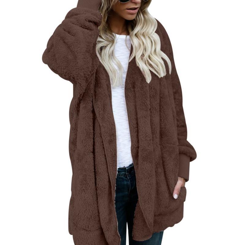 새로운 디자인 2018 패션 겨울 여성 모피 코트 여성 모조 가죽 모피 여성 패치 워크 짧은 겨울 자켓 여성 모조 코트