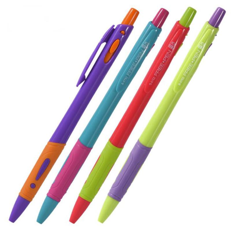 4PCS Creative Candy Color Ballpoint Pen Colorful Funny Press Ball Pens For Writing Office Stationery and School Supplies