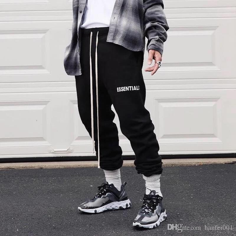 fantastic savings finest selection arriving 2019 Fear Of God FOG Essentials Autumn Winter Plush Pants Trousers Street  Skateboarding Sports Pants Sweatpants Fashion Casual Pants HFYMKZ104 From  ...