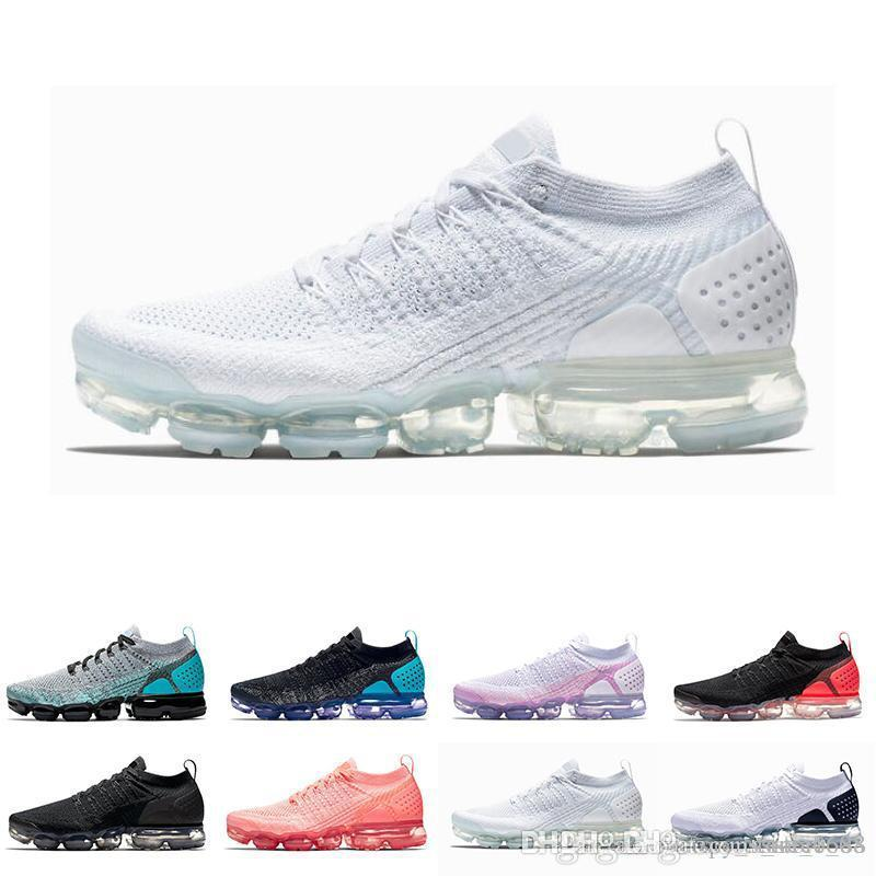 new product e24af 098ee Original New Arrival Authentic AIR VAPORMAX 2.0 FLYKNIT Mens Running Shoes  Sneakers Breathable Sport Outdoor Good Quality Black Shoes Wholesale Shoes  ...