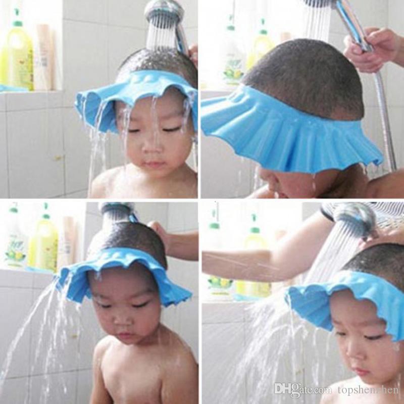 Justierbare Duschhaube schützen Shampoo für Babygesundheit Für Baby-Wäsche-Haar-Schild Bebes Kinder-Baden-Dusche CapWash Haar-Schild-Hut