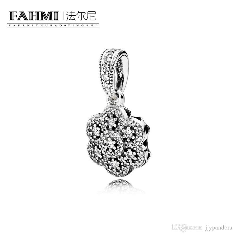 FAHMI 100% 925 Sterling Silver 1:1 Original 390392CZ Authentic Temperament Fashion Glamour Retro Pendant Wedding Women Jewelry
