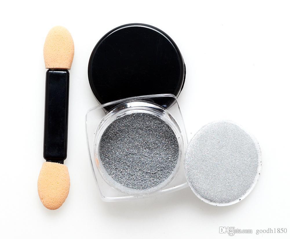 Perle 3 Bottiglia * 1g Specchio Polvere splendente Pigmento in polvere Cromo pigmento Nail Glitter Power Paillettes per unghie Decorazioni per unghie Facile da usare