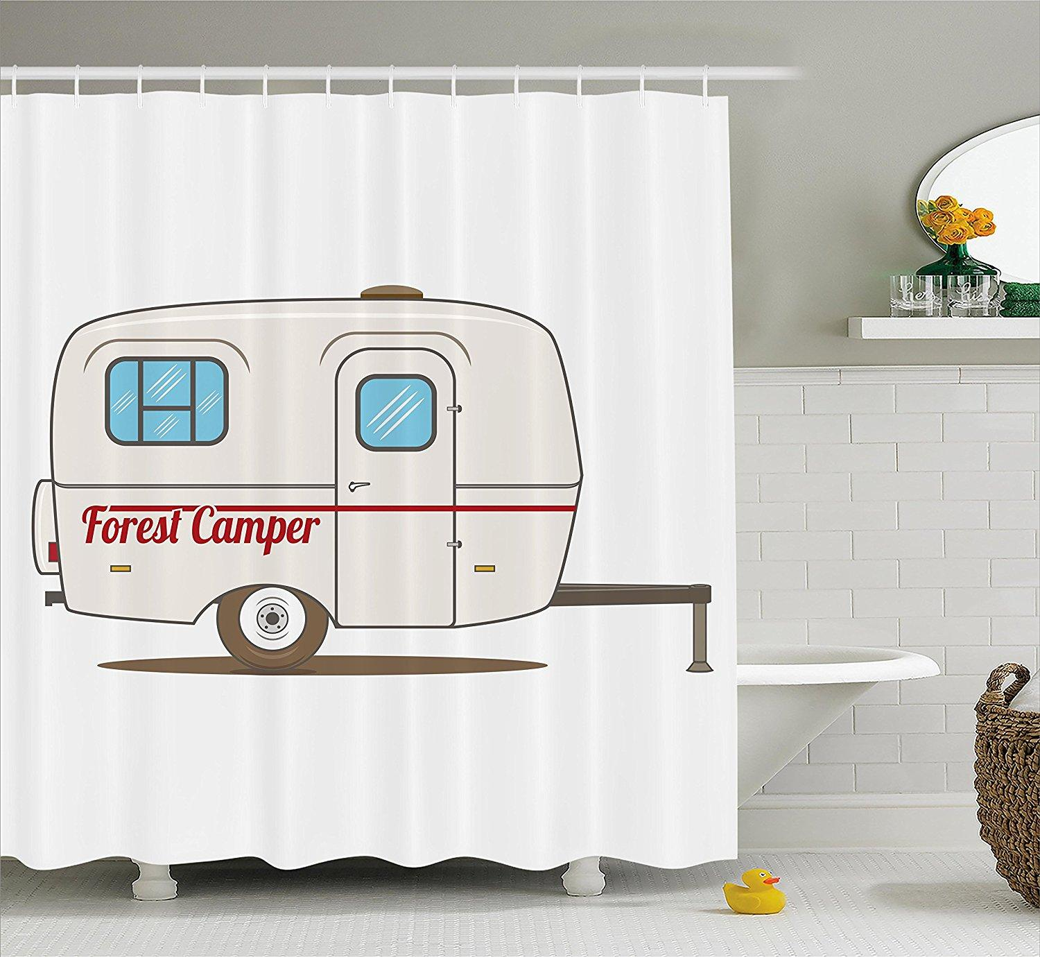 2019 Memory Home Shower Curtain Cute Vintage Caravan Travelers Truck On The Road Retro Design Fabric Bathroom Decor With Hooks From Sheiler 27 01