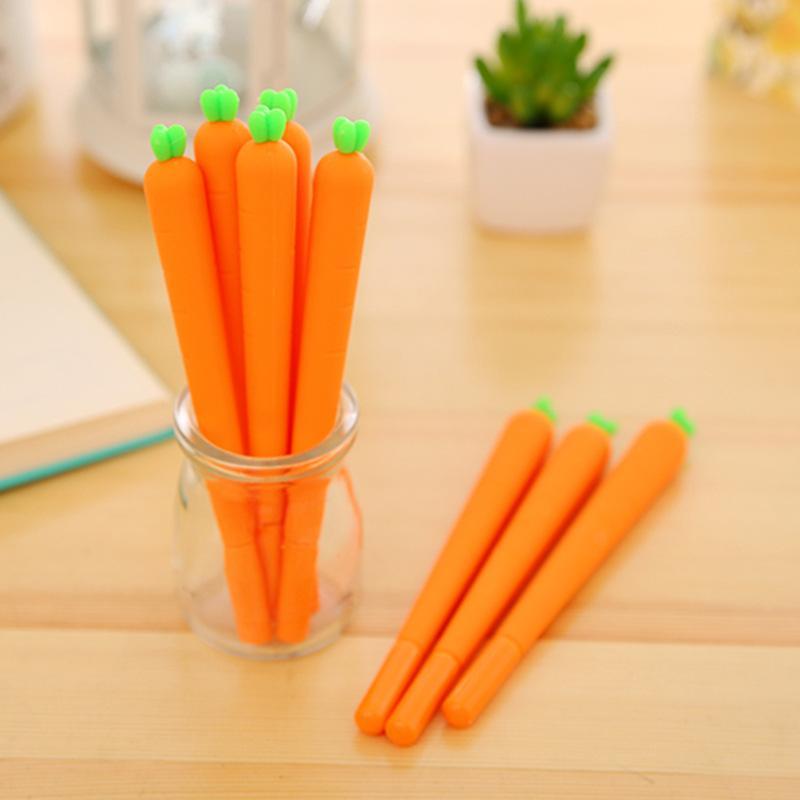 I fornitori che vendono creativo simpatico simulazione carota penna neutra firma carattere coreano penna all'ingrosso