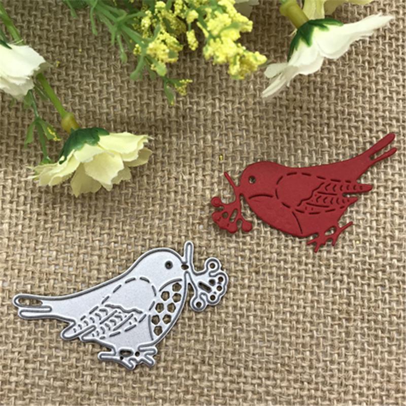 1 unids Birds Metal Cutting Dies Stencil DIY Scrapbooking Álbum de fotos Decoración Tarjetas de Relieve Hacer Artesanía DIY envío gratis