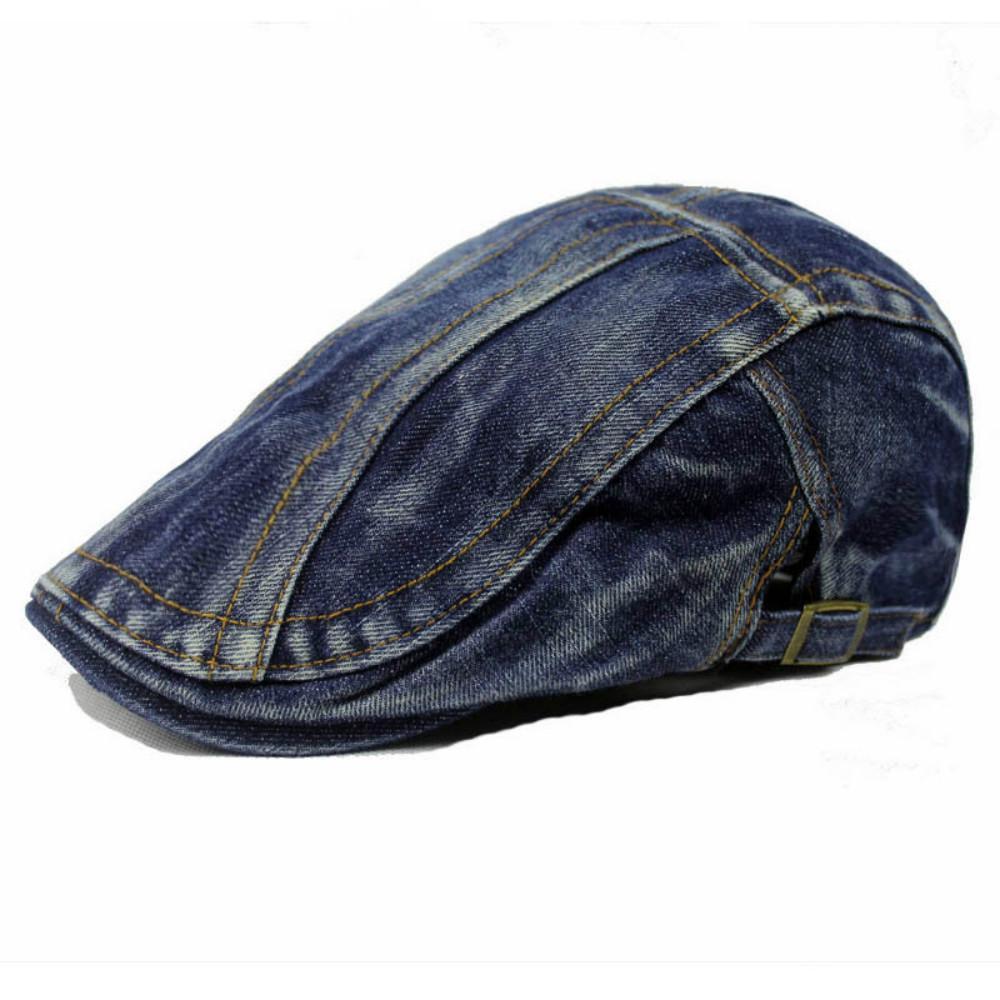 الرجال قبعة الدنيم الرجعية قبعة الصيف عارضة إلى الأمام بلغت ذروتها قبعة قبعة