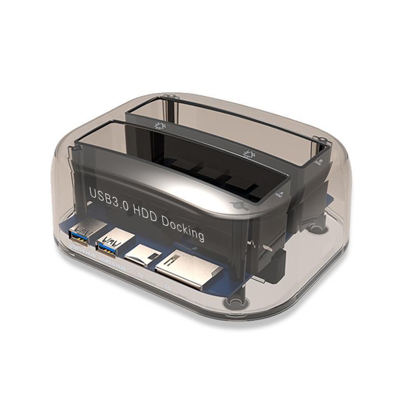 قاعدة توصيل محرك الأقراص الصلبة الخارجية SATA USB3.0 لـ 2.5 / 3.5inch HDD / SSD حاوية تخزين الأقراص الصلبة متعددة الأغراض