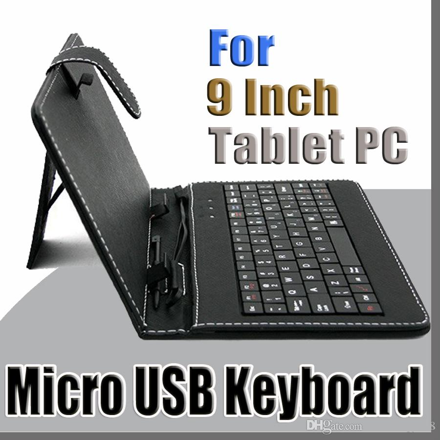 100X 2014 colours USB Keyboard Leather Case For 9 inch Android Tablet pc Folding Leather Protective Case B-JP