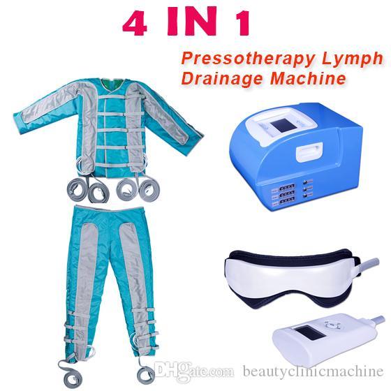 4 in 1 Far infrared pressotherapy slimming machine with ems elecyrostimulation Pressotherapy Lymph Drainage slim Machine