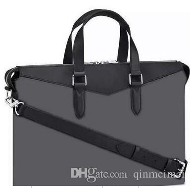 Wholesale Retail Classic Men Purse Leather Briefcases Designer Handbag Shoulder Bag classic branded bags EXPLORER OL briefcase with letter