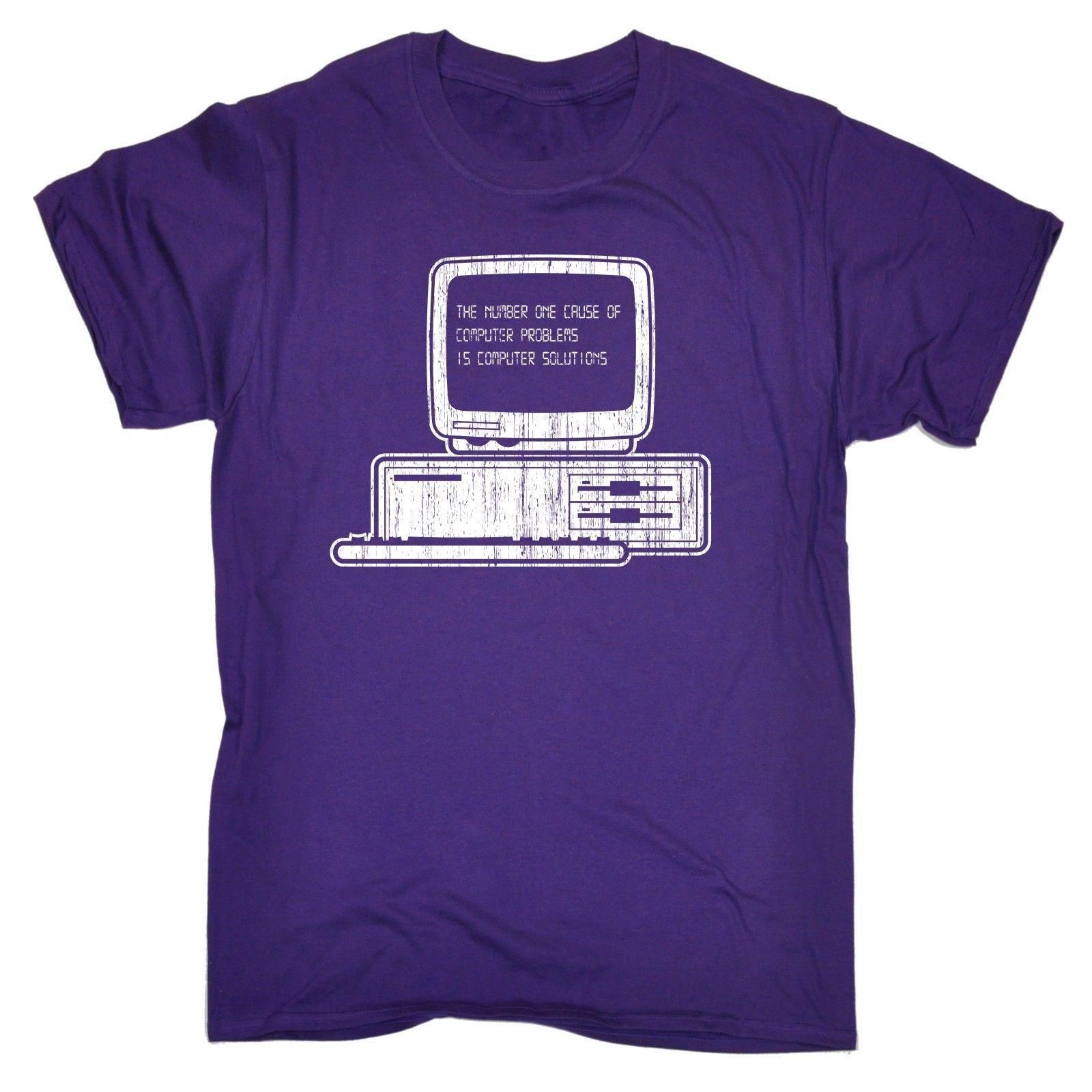 El número 1 Causa de soluciones informáticas T Shirt It Gamer Regalo divertido Cumpleaños Divertido Ropa Casual Manga corta Camisetas