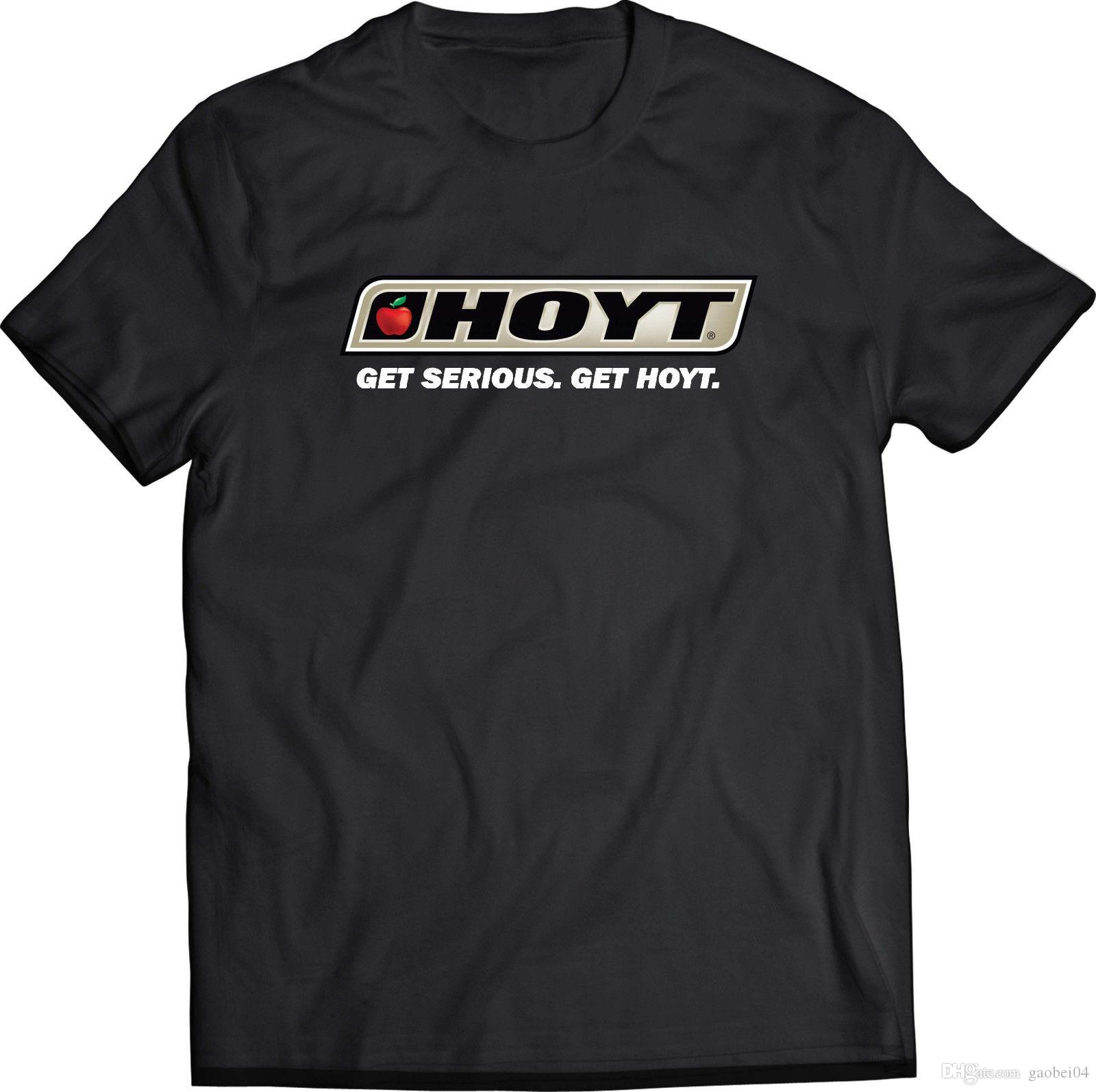 Hoyt Custom Black T-shirt USA Size Men/'s