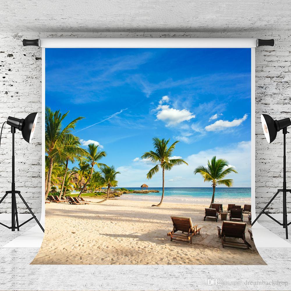 Мечта 5x7ft море пляж фоны голубое небо тропический летний фон фотографии для фотографа дети праздник фотостудия Prop
