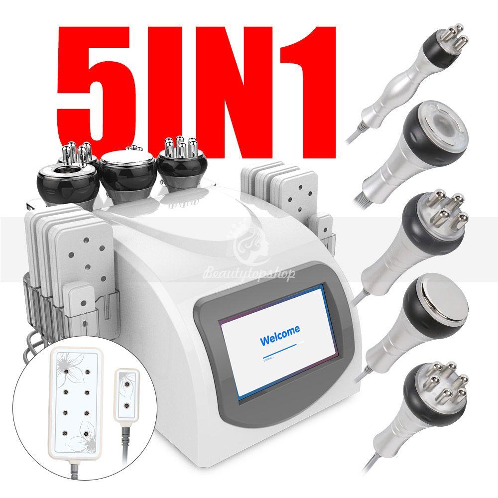 Portátil de vacío liposucción cavitación RF adelgazar Remoción 40K cavitación celulitis adelgazar cuerpo lipo láser Máquina Spa