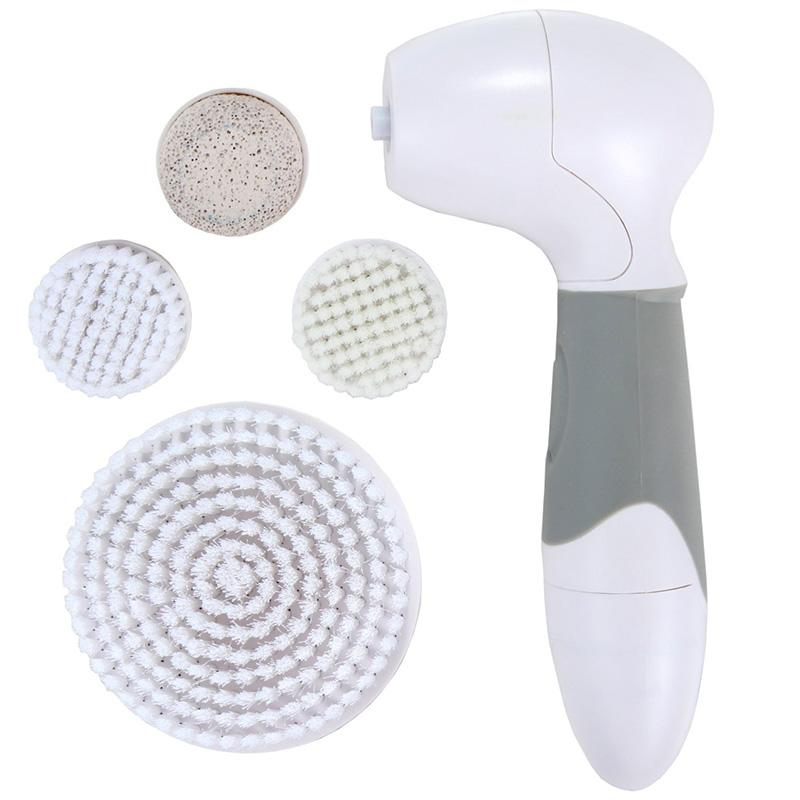 Face Body Exfoliator Brushes 4 In 1 Electric Facial Cleanser Deep