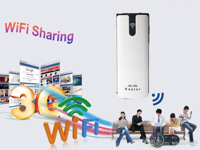 3G WiFi Router Mobil Taşınabilir Çok Fonksiyonlu Mini SIM Kart Yuvası ile Kablosuz Güç Bankası Battary Şarj