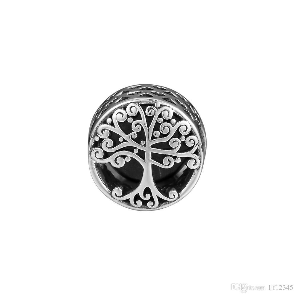 Pandulaso Family Roots Charm perline in argento per gioielli che rendono Fit Braccialetti in argento 925 Bracciale Bangle Fashion Jewelry Collezione autunno