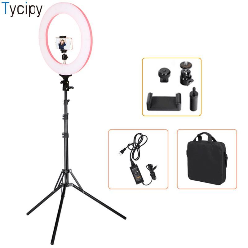 """vente en gros 16 """"anneau lumière 448pcs LED photographie selfie lumière photo caméra vidéo lampe lumière lampe avec trépied stand"""