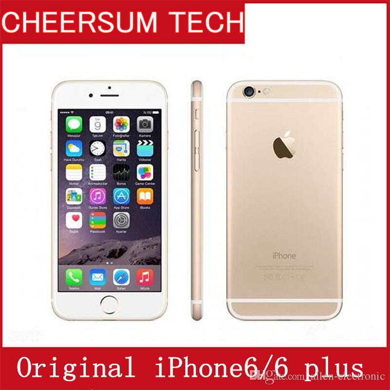 Refurbished Unlocked Original Apple iPhone 6/6 Plus 4G LTE Smartphone without fingerprint Mobile phone 4.7 5.5 inch 2GB RAM 16/64/128GB ROM