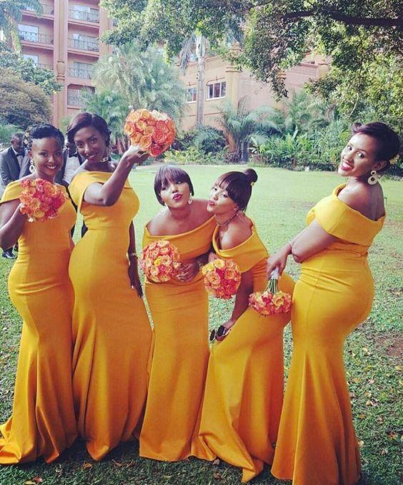 Yeni Kapalı Omuz Uzun Nedime Elbiseler Kolsuz Kat Uzunluk Seksi Gelinlikler Nedime elbisesi Custom Made Artı Boyutu