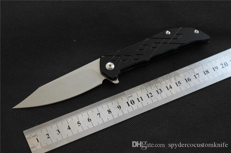 Folding knife D2 knife blade bearing washer TC4 handle outdoor biker camping bag EDC tool kitchen knife Free shipping