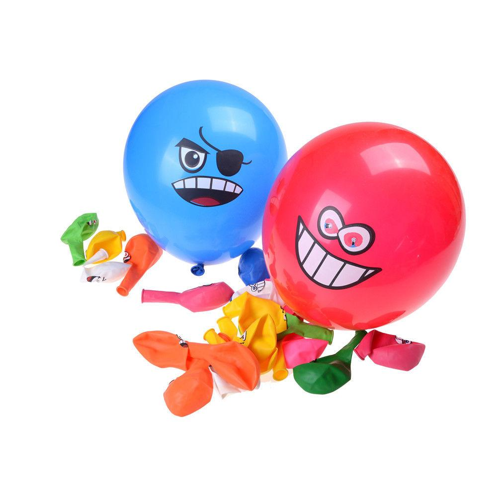 Big Eyes Smile Face Latex Balloons Happy Birthday Party Decoration Inflatable Air Ballons Balls for Kid Gift Random send 100PCS