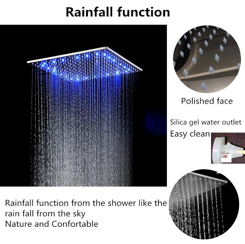 Rainfall with leds