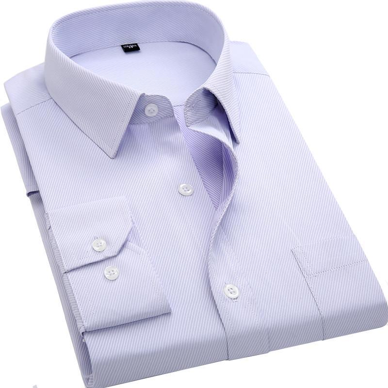 New Men's Casual Shirts Long Sleeve Fashion Casual Shirt Men Office Dress Shirt Male 74986