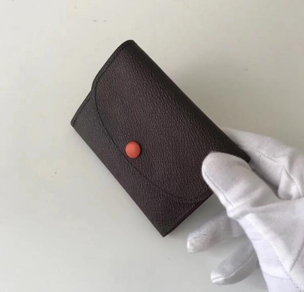 Высокое качество моды роскошь натуральная кожа многоцветный портмоне дата код короткий бумажник карты держатель женщины мужчина классический карман на молнии M41938