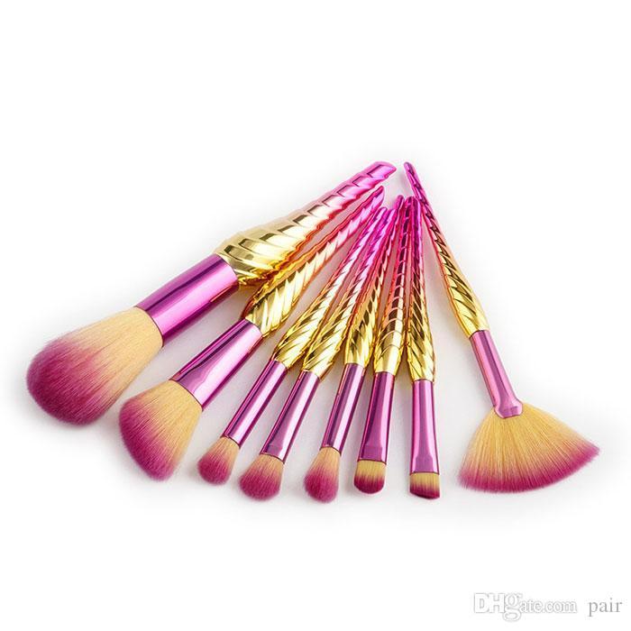 8 قطع فرش ماكياج المهنية بودرة ظلال العيون استحى المكياج maquiagem Contour Cosmetics Tool Kits