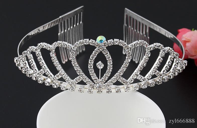 جديد الماس حفر دبوس الشعر الفرقة إكسسوارات الزفاف عيد ميلاد الاميرة القوس المجوهرات الأداء