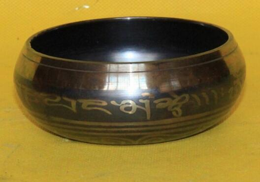 "6"" YOGA Tibet Singing Bowl HIMALAYAN hand hammered CHAKRA MEDITATION Religion wholesale Bronze Buddhism copper"