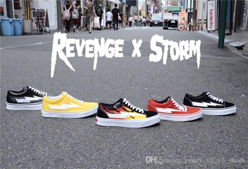 Compre Tener Caja VANs Revenge X Storm Old Skool Botas De Lona ...