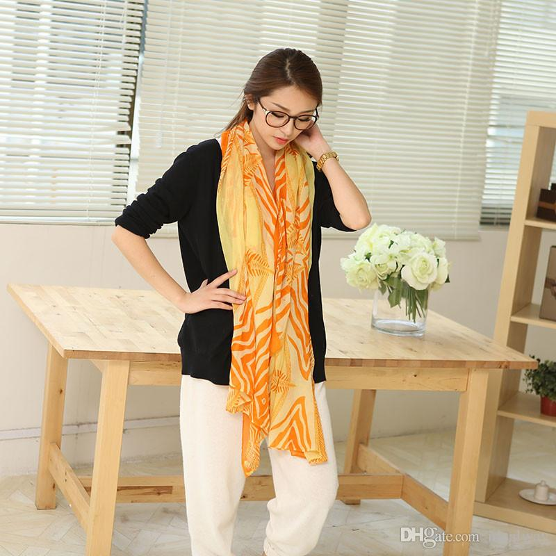 100٪ الحرير أزياء وصول جميل جديد الشهيرة زيبرا القطن الكتان لينة طرحة طويلة شال 3 ألوان النساء اكسسوارات أزياء