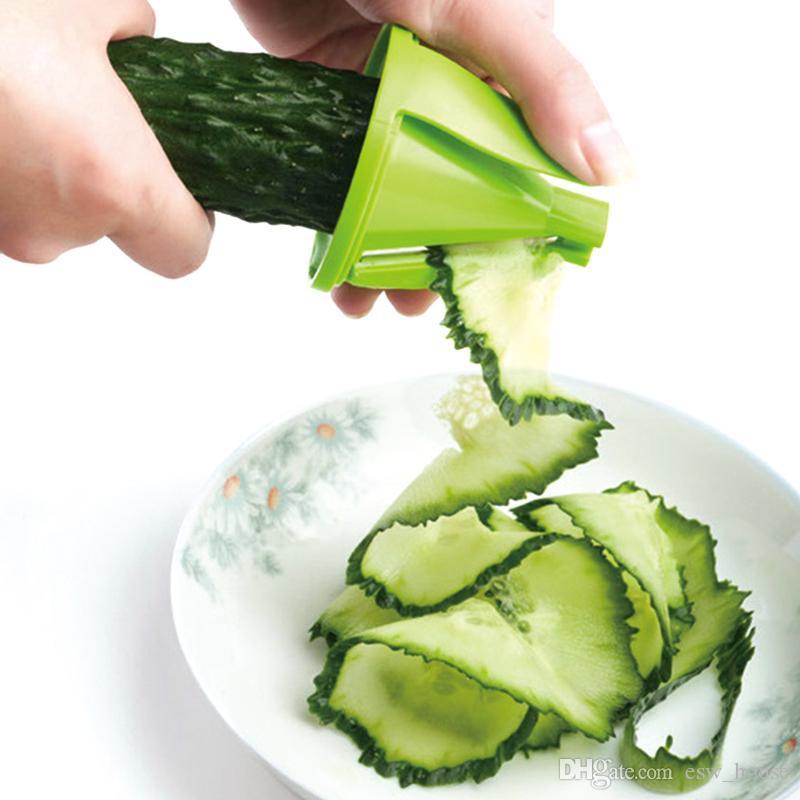 Artefacto de cocina Spiral Vegetable Fruit Handheld Spiralizer Slicer Cutter Rallador Twister Peeler slicer fruta Utensilios de cocina Herramientas