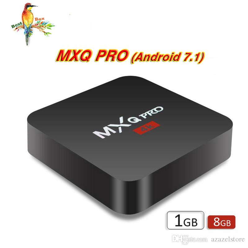 1 PCS RK3229 MXQ PRO 4K Android smart Boxes Ultimate HD Android7.1 Smart TV Box 1g 8g 2.0GHz Hardware IPTV