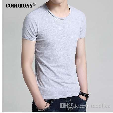 COODRONY футболка мужская бренд Clothing 2017 новый летний с коротким рукавом футболки мужчины хлопок O-образным вырезом футболка мужчины повседневная белый топ тройник S7601