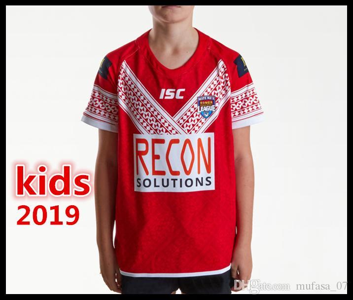 Melhor Qualidade Tonga crianças 2019 Juventude Casa Camisa Da Liga de Rugby TONGA NATIONL LEAGUE jersey TESTE PACÍFICO Rugby camisas