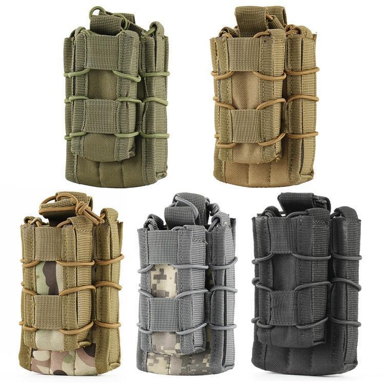 5 цветов MOLLE тактический открытый топ двухэтажный одноместный винтовка пистолет Mag мешок картридж клип сумка охотничий мешок