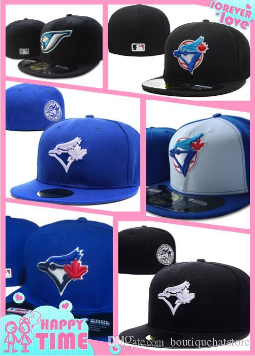 2018 New Men's Toronto fitted hat on field style flat Brim embroiered character logo fans baseball Hat toronto full closed Chapeu with patch