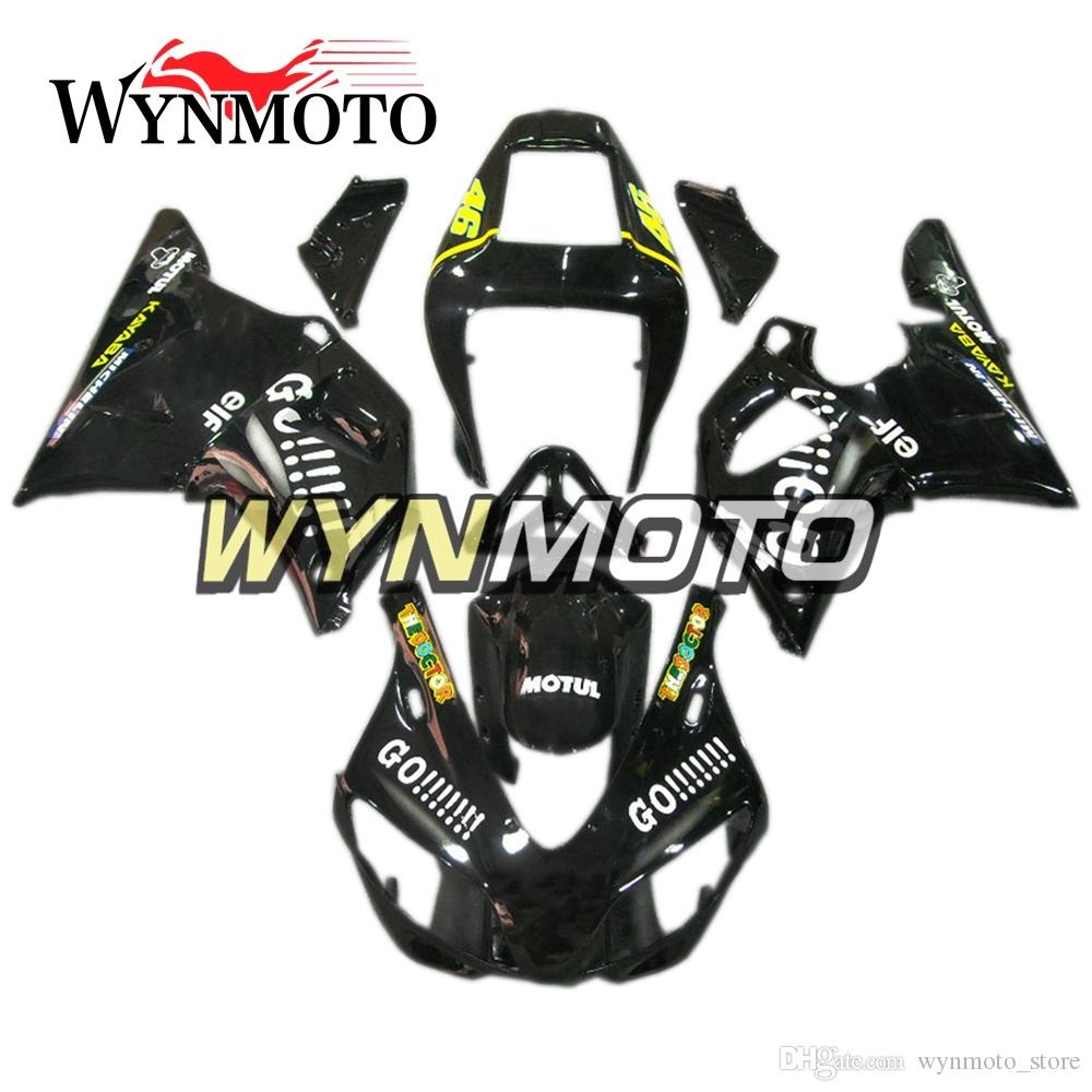 Full Fairings For Yamaha R1 1998-1999 98 99 Injection ABS Plastics Hull Covers Motorbike YZF1000 R1 Frames Bodywork Black Yellow Cowlings