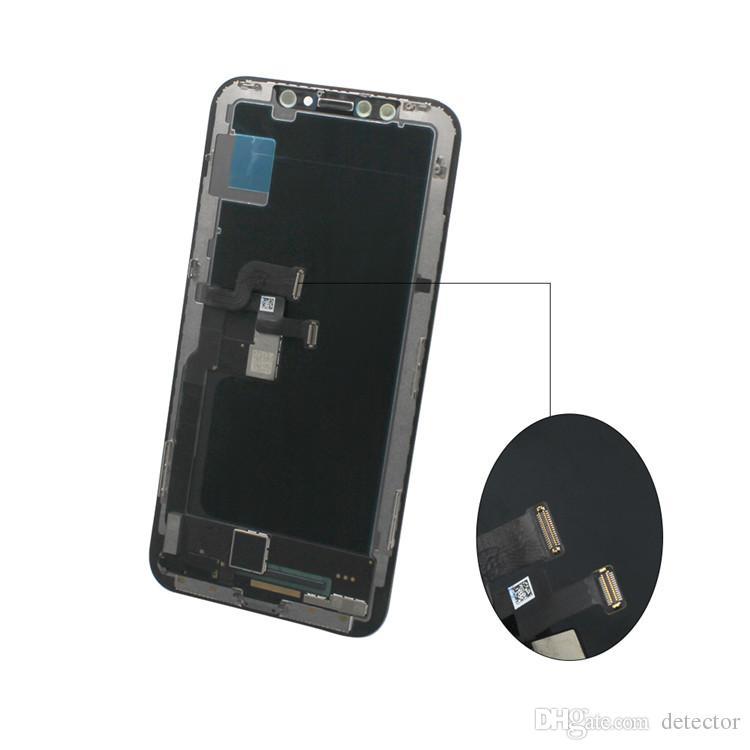 Para iPhone X 1: 1 Perfeitamente OEM Tela OLED classe A +++ Ecrã Toque digitador Assembléia Tela completa substituição de 5,8 polegadas LCD grátis DHL