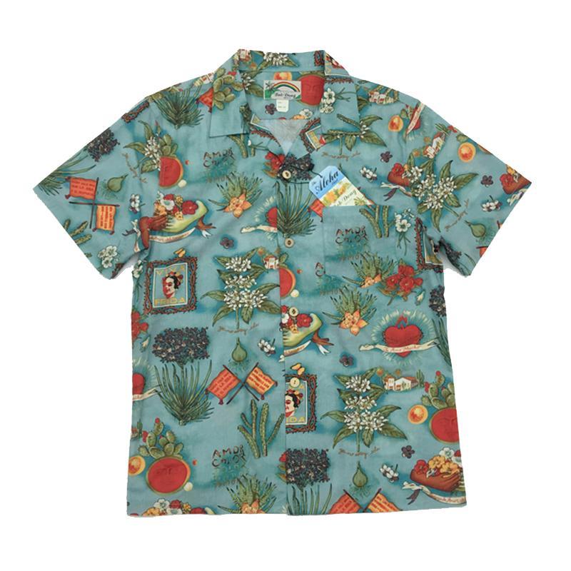 BOB DONG Floral Hawaiian Shirts Summer Short Sleeve Aloha Men Party Camp Shirts