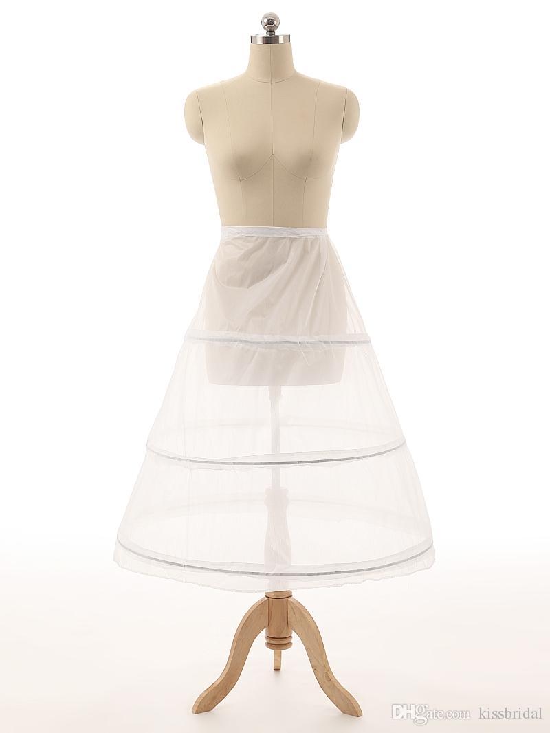 Bon marché vente chaude jupons de mariage robe de bille de mariage 3 jupons de crinoline en os de cerceau pour robe de mariée Jupe de mariage Accessoires Slip