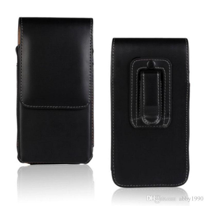 Universal Belt Clip PU Leather Waist Holder Flip Pouch Case for LG Harmony 2/K11 Alpha/K11 Plus/Phoenix Plus/V35 ThinQ/Premier Pro/K30
