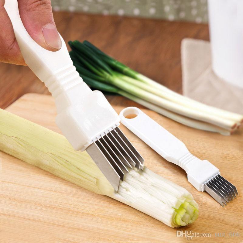 Broyeur multifonction de cuisine oignons verts broyés dispositif d'oignon est coupé oignon déchiqueté échalote échalote couteau à lame d'oignon