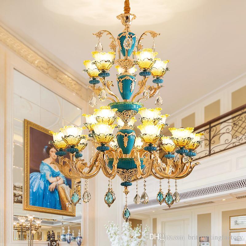 Avrupa Avize Oturma Odası Kristal Avize Yatak Odası Yemek Odası Kristal Lambaları Otel Villa Salon Merdiven Lüks Çinko Alaşım Avize
